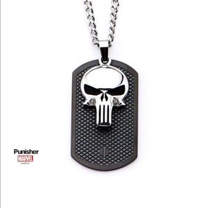 Punisher cutout pendent necklace